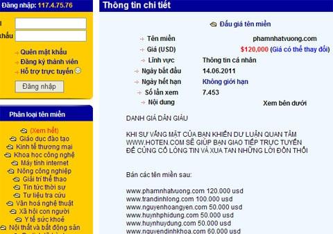 phamnhatvuong 35108 Kiếm bộn tiền nhờ đầu cơ tên miền đẹp ở Việt Nam