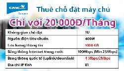 Đặt máy chủ (Server Colocation) tại Datacenter CMC giá chỉ 20.000 VND / 1 tháng