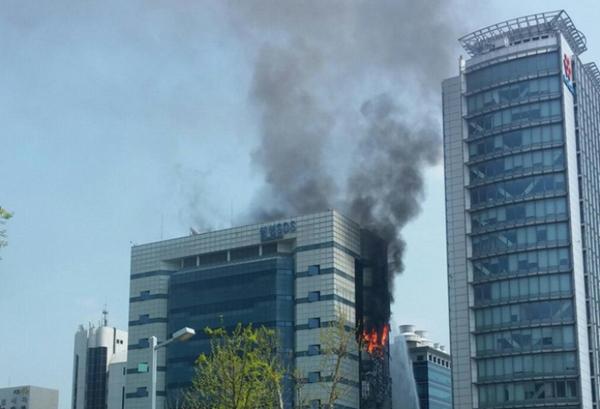 Trung tâm dữ liệu samsung cháy