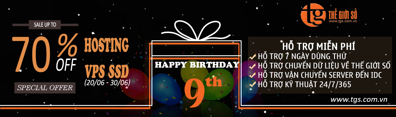 CLOUD SERVER, cloud vps, dịch vụ Hosting, mừng Sinh nhật Thế Giới Số, Thuê VPS